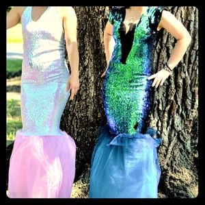 Dresses & Skirts - Reversible sequin gowns